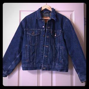 Levi's wool/fabric lined denim jacket size 40 (XL)